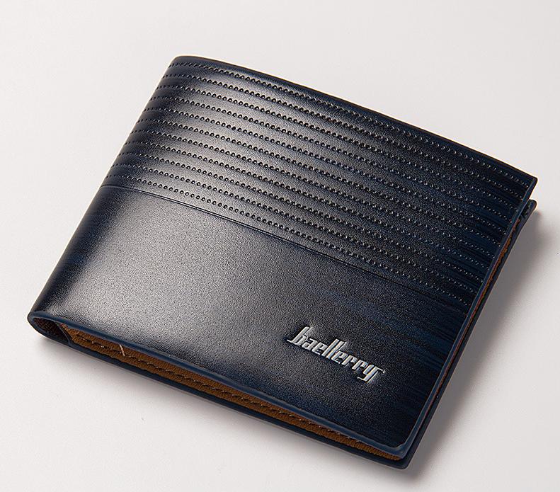 พร้อมส่ง กระเป๋าสตางค์ใบสั้นผู้ชาย สั่งตรงจากโรงงาน แฟชั่นเกาหลี ยี่ห้อ baellerry รหัส BA-BR002 สีน้ำเงินเข้ม *ไม่มีกล่อง