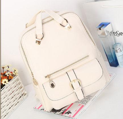 พร้อมส่ง กระเป๋าเป้สะพายหลัง และปรับสะพายข้างได้ ผู้หญิง แฟชั่นเกาหลี Sunny-612 สีขาว