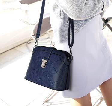 พร้อมส่ง กระเป๋าสะพายไหล่และสะพายข้าง แฟชั่นเกาหลี Sunny-770 สีน้ำเงิน