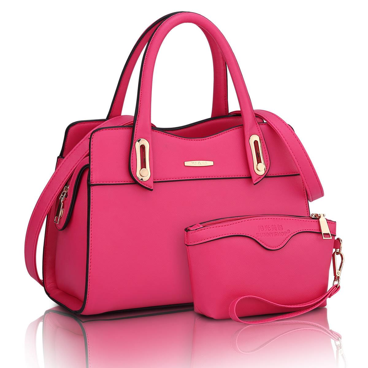 ขายส่ง กระเป๋าผู้หญิงถือและสะพายข้าง เซ็ต 2 ใบ แฟชั่นยุโรป Sunny-714 แท้ สีเบานเย็น