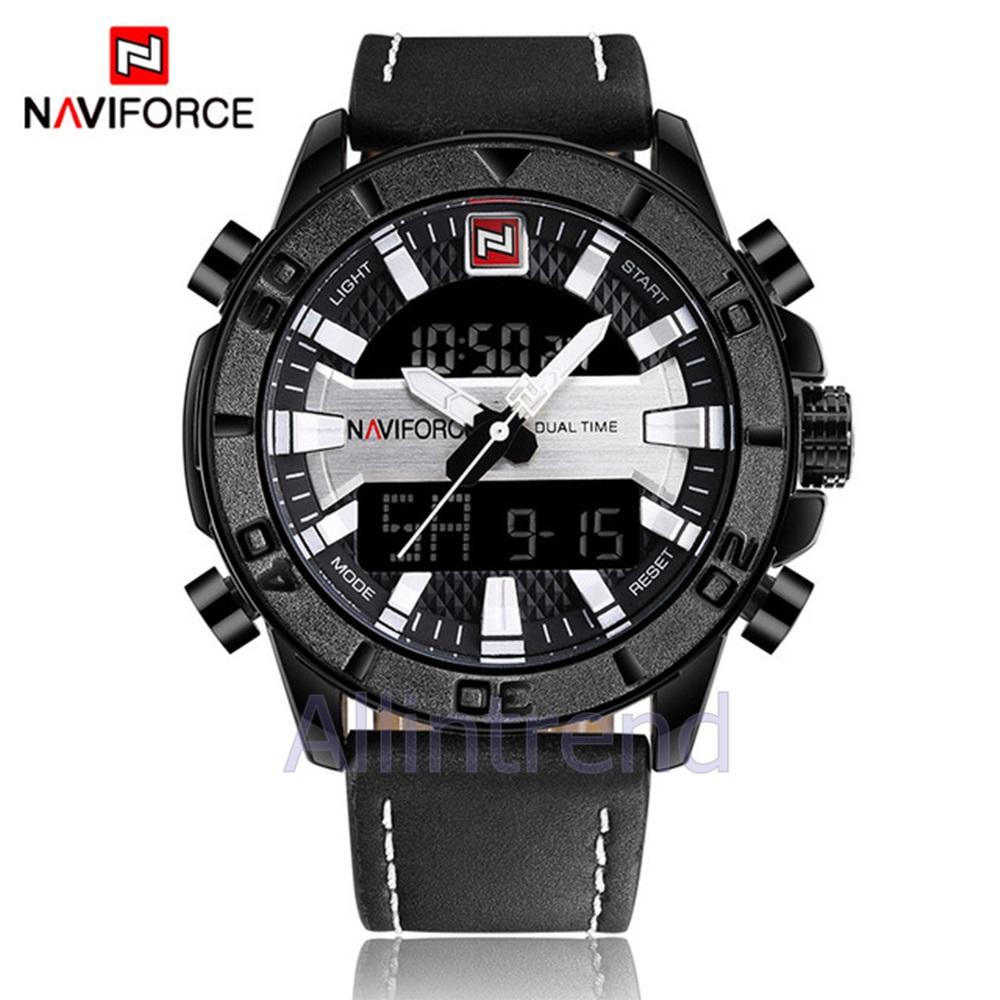 นาฬิกา Naviforce รุ่น NF9114M สีเงิน/ดำ ของแท้ รับประกันศูนย์ 1 ปี ส่งพร้อมกล่อง และใบรับประกันศูนย์ ราคาถูกที่สุด