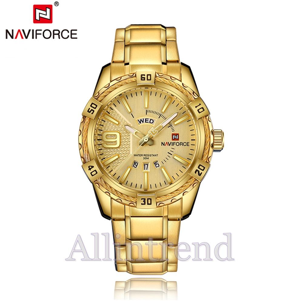 นาฬิกา Naviforce รุ่น NF9117M สีทอง ของแท้ รับประกันศูนย์ 1 ปี ส่งพร้อมกล่อง และใบรับประกันศูนย์ ราคาถูกที่สุด