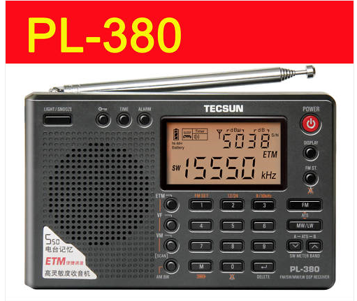 TECSUN PL-380 PL380 DSP ETM World Band Digital Radio