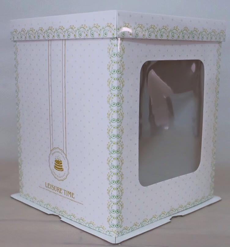 กล่องเค้กฟองดอง, กล่องเค้กทรงสูง ขนาด1 ปอนด์