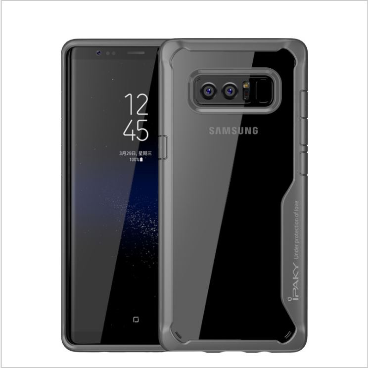 iPaky case samsung galaxy note 8 -เงิน