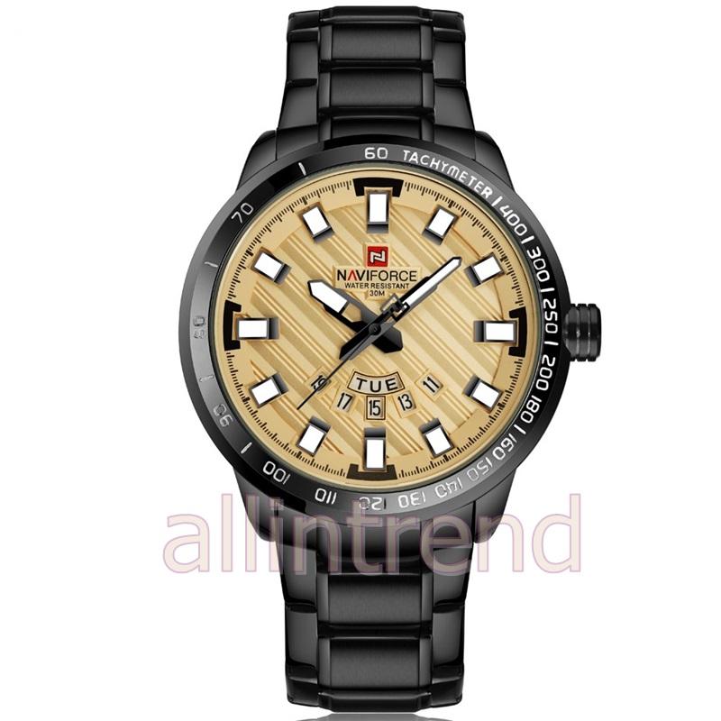 นาฬิกา Naviforce รุ่น NF9090M สีทอง/ดำ ของแท้ รับประกันศูนย์ 1 ปี ส่งพร้อมกล่อง และใบรับประกันศูนย์ ราคาถูกที่สุด