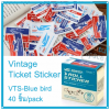 Vintage Ticket Sticker [VTS-Blue bird]