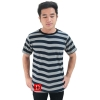 Striped Short Sleeves Tee gray/dark blue