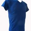 COTTON100% เบอร์32 เสื้อยืดแขนสั้น คอวี สีน้ำเงิน