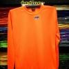 เสื้อยืดผ้าTC แขนยาว จั้มแขน สีส้มสะท้อนแสง
