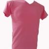 COTTON100% เบอร์32 เสื้อยืดแขนสั้น คอวี สีชมพู