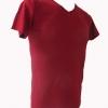COTTON100% เบอร์32 เสื้อยืดแขนสั้น คอวี สีแดง