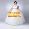ชุดแต่งงานคนอ้วน กระโปรงสุ่ม-แขนกุด WL-2017-004 Pre-Order (เกรด Premium)