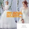 ชุดแต่งงานราคาถูก กระโปรงสุ่มเสมอพื้น ws-2017-027 pre-order