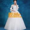 ชุดแต่งงานราคาถูก กระโปรงสุ่มมีแขนเสื้อ ws-145 pre-order สินค้าส่งท้ายปี 2016