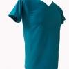 COTTON100% เบอร์32 เสื้อยืดแขนสั้น คอวี สีเขียวมรกต
