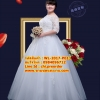 ชุดแต่งงานคนอ้วน แขนยาวลายปัก WL-2017-P013 Pre-Order (เกรด Premium)