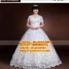 ชุดแต่งงานคนอ้วน คอกว้าง WL-2017-P001 Pre-Order (เกรด Premium)