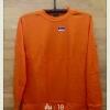 เสื้อยืดผ้าTC แขนยาว จั้มแขน สีส้ม