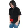 เสื้อยืดคอจีน Cotton100% XL สีดำ