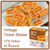 Vintage Ticket Sticker [VTS-Yellow]