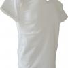 COTTON100% เบอร์32 เสื้อยืดแขนสั้น คอวี สีขาว