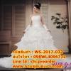ชุดแต่งงานราคาถูก กระโปรงยาวลอนพิเศษ ws-2017-032 pre-order