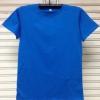 COTTON100% เบอร์32 เสื้อยืดแขนสั้น คอกลม สีฟ้าทะเล
