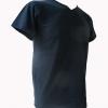 COTTON100% เบอร์32 เสื้อยืดแขนสั้น คอวี สีกรม