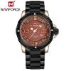 นาฬิกา Naviforce รุ่น NF9078M Gold Black นาฬิกาข้อมือสุภาพบุรุษ ของแท้ รับประกันศูนย์ 1 ปี ส่งพร้อมกล่อง และใบรับประกันศูนย์ ราคาถูกที่สุด