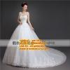 ชุดแต่งงานราคาถูก คอกลมกระโปรงสุ่ม ws-143 pre-order สินค้าส่งท้ายปี 2016