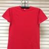 COTTON100% เบอร์32 เสื้อยืดแขนสั้น คอกลม สีแดง