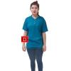 เสื้อยืดคอจีน Cotton100% XL สีฟ้าอมเขียว