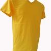 COTTON100% เบอร์32 เสื้อยืดแขนสั้น คอวี สีเหลือง