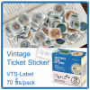 Vintage Ticket Sticker [VTS-Label]