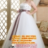 ชุดแต่งงานคนอ้วน กระโปรงสุ่มปักดอกไม้ WL-2017-P021 Pre-Order (เกรด Premium)