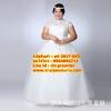 ชุดแต่งงานคนอ้วน กระโปรงสุ่ม-ปิดคอ WL-2017-003 Pre-Order (เกรด Premium)