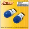 Amber ไฟหรี่ COB Led super bright T10 สีฟ้า 1วัตต์ (แพ็คคู่)