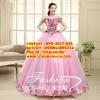 ชุดพรีเวดดิ้ง ลอนผ้าแบบดอกไม้-ชุดสีชมพูอ่อน APD-2017-024 (Pre-Order) เกรด Premium