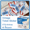 Vintage Ticket Sticker [VTS-Airlines]