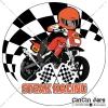 ตัวอย่างงานออกแบบสติ๊กเกอร์ STEAK RACING
