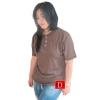 เสื้อยืดคอจีน Cotton100% XL สีโอวัลติน