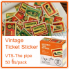Vintage Ticket Sticker [VTS-The pipe]