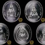 ชุดเหรียญเงิน เหรียญที่ระลึกพระพุทธปัญจภาคีขนาด 3 ซม. (เซ็ต 5 เหรียญพร้อมกล่องสะสม)