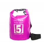 กระเป๋ากันน้ำ Dry pack 5L-สีชมพู