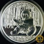 เหรียญที่ระลึกหมีแพนด้าเนื้อเงิน China Panda Silver Coin 10 Yuan 2017 (UNC)