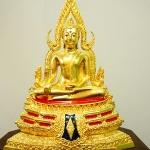 พระพุทธชินราช ปิดทองแท้ ฐานสูง หน้าตัก5 นิ้ว