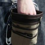 พร้อมส่ง กระเป๋าผู้ชาย ผ้าอเนกประสงค์ขนาดเล็ก คล้องเอว แฟชั่นเกาหลี รหัส G-1497 สีกากี