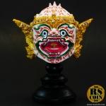 หัวโขนเรซิ่น - หนุมาน (Ramakien White Ape Hanuman Khon Mask Size.S)