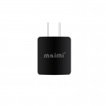 Maimi wall charge adapter 2 in1 Micro USB Caable (Black)